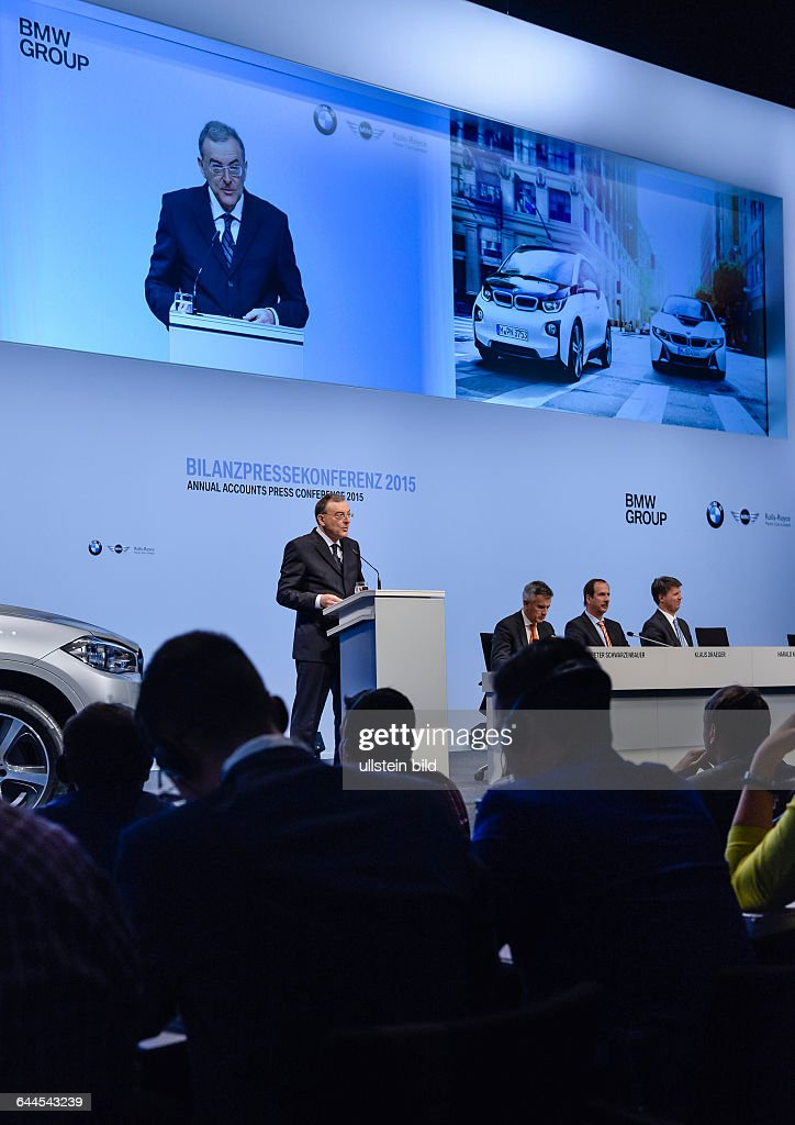 Norbert Reithofer Vorstandsvorsitzender der BMW Group waehrend der Bilanzpressekonferenz der Bayerischen Motoren Werke in der BMW Welt am 180315 in...