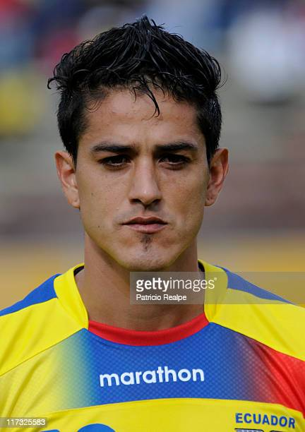 Norberto Araujo of Ecuador before a friendly soccer match prior to the 2011 Copa America on June 25 2011 in Quito Ecuador Argentina will host the...