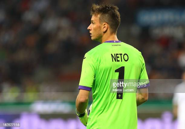 Norberto Murara Neto of ACF Fiorentina looks on during the Serie A match between FC Internazionale Milano and ACF Fiorentina at Giuseppe Meazza...