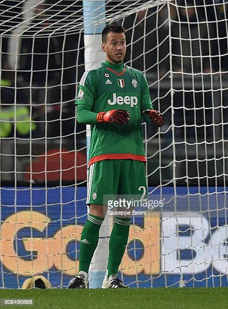 Norberto Murara Neto of Juventus FC during the TIM Cup between SS Lazio and Juventus FC at Stadio Olimpico on January 20 2016 in Rome Italy