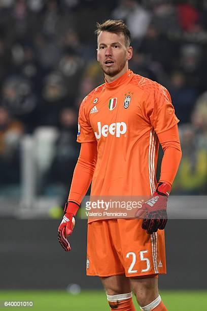 Norberto Murara Neto of Juventus FC looks on during the TIM Cup match between Juventus FC and AC Milan at Juventus Stadium on January 25 2017 in...
