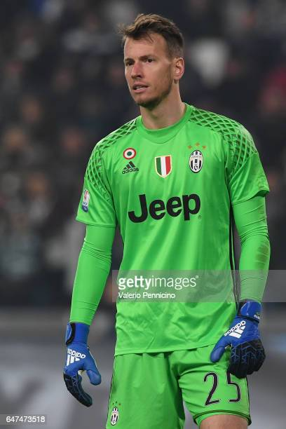 Norberto Murara Neto of Juventus FC looks on during the TIM Cup match between Juventus FC and SSC Napoli at Juventus Arena on February 28 2017 in...