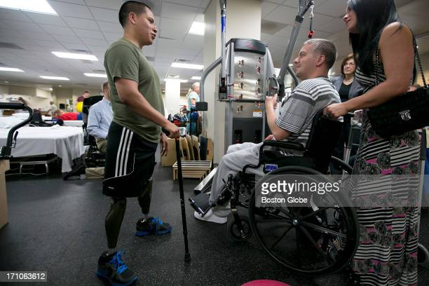 JP Norden and his girlfriend Kelly Castine met Sgt Luis Remache of the USMC who lost his legs from grenades that were thrown at him in Afghanistan at...