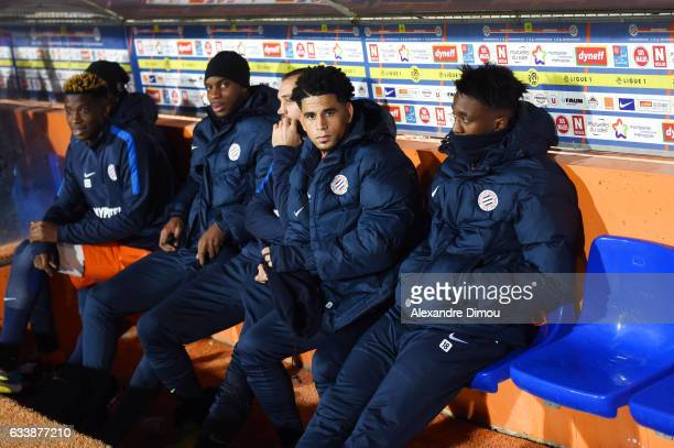 Nordi Mukiele and Yacouba Sylla and Keagan Dolly and Isaac Mbenza of Montpellier during the Ligue 1 match between Montpellier Herault and SC Bastia...