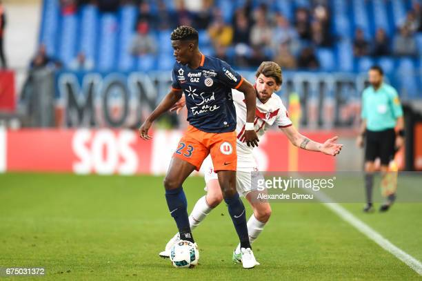 Nordi Mukiele of Montpellier and Xeka of Lille during the French Ligue 1 match between Montpellier and Lille at Stade de la Mosson on April 29 2017...