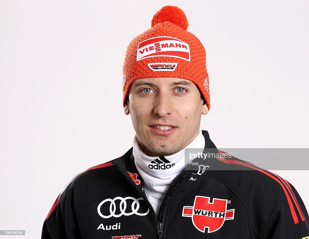 Nordic combined athlete <a gi-track='captionPersonalityLinkClicked' href=/galleries/search?phrase=Bjoern+Kircheisen&family=editorial&specificpeople=726172 ng-click='$event.stopPropagation()'>Bjoern Kircheisen</a> of Germany poses during a photo call on October 26, 2010 in Ingolstadt, Germany.