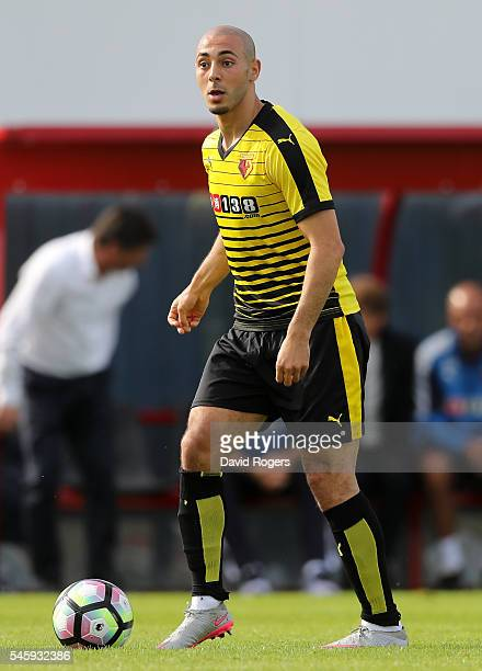 Nordin Amrabat of Watford runs with the ball during the pre season friendly match between Woking and Watford at The Laithwaite Community Stadium on...