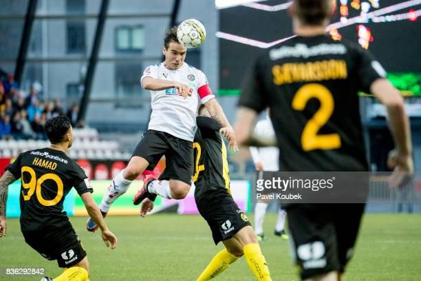 Nordin Gerzic of Orebro SK during the Allsvenskan match between Orebro SK and Hammarby IF at Behrn Arena on August 21 2017 in Orebro Sweden