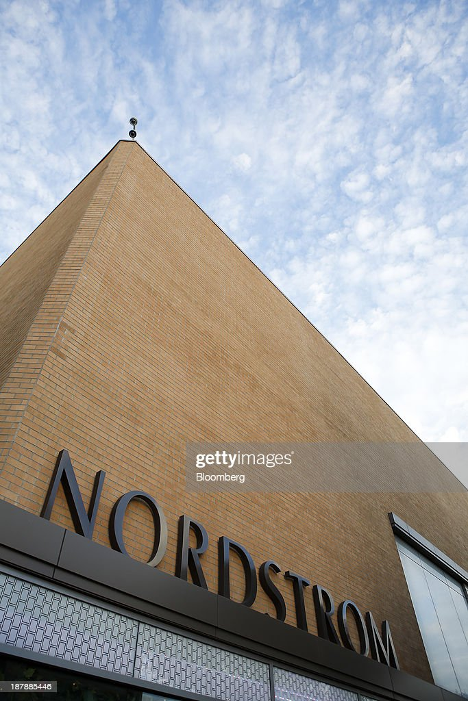 Nordstrom Inc. signage is displayed outside a department store in Santa Monica, California, U.S., on Tuesday, Nov. 12, 2013. Nordstrom Inc. is scheduled to release earnings figures on Nov. 14. Photographer: Patrick T. Fallon/Bloomberg via Getty Images