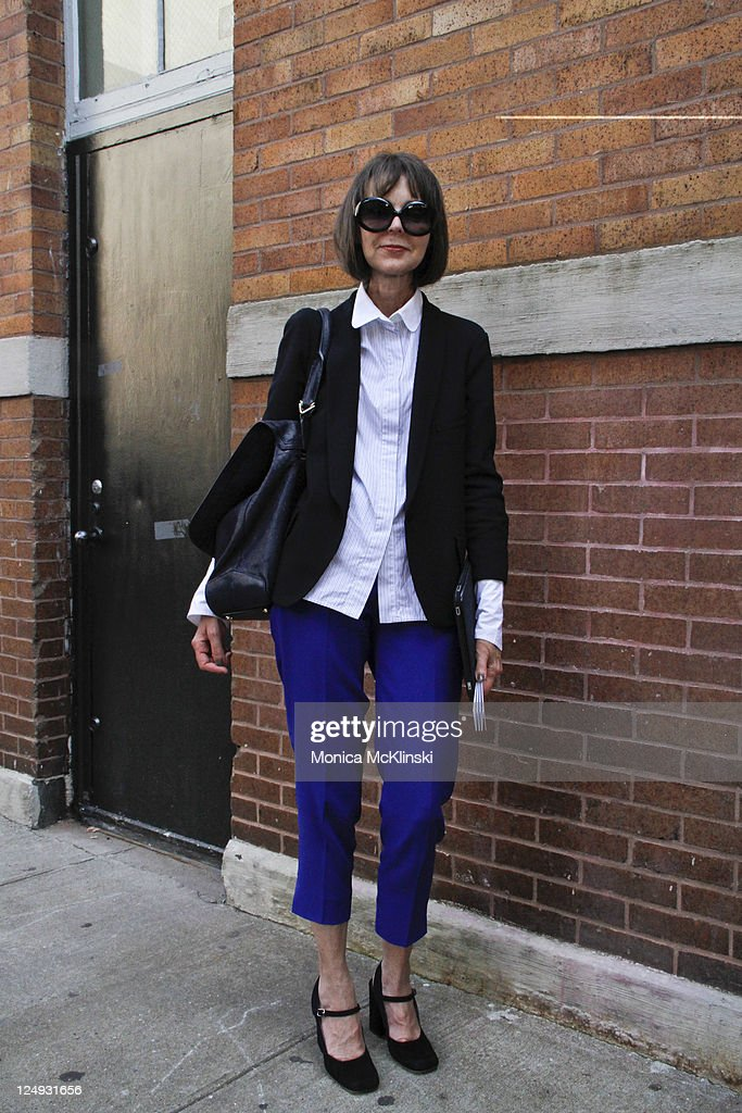 Nordstrom National Merchandising Manager, Jennifer DeLuca wearing a YSL jacket over a Celine shirt and pants, Marni shoes, Fendi sunglasses and a Givenchy bag arrives for the Theyskens' Theory Showing at Center 548 in Manhattan during Spring 2012 Fashion Week on September 13, 2011 in New York City.
