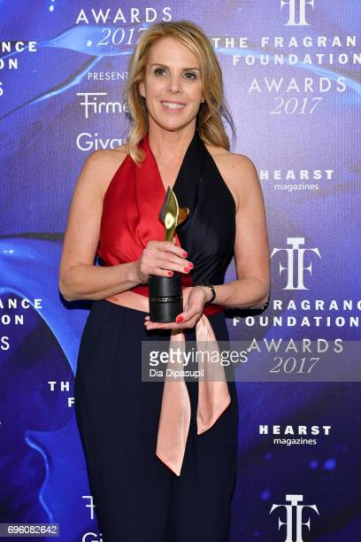 Noreen Dodge poses backstage at the 2017 Fragrance Foundation Awards Presented By Hearst Magazines at Alice Tully Hall on June 14 2017 in New York...