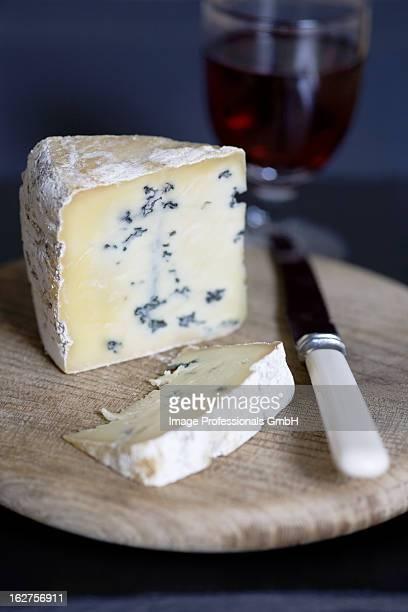 UK, Norfolk, Piece of blue cheese (type: Mrs Temple's Binham Blue