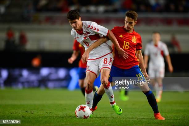 Norgaard Denis Suarez during the friendly match of national teams U21 of Spain vs Denmark in stadium Nueva Condomina Murcia SPAIN March 23rd 2017
