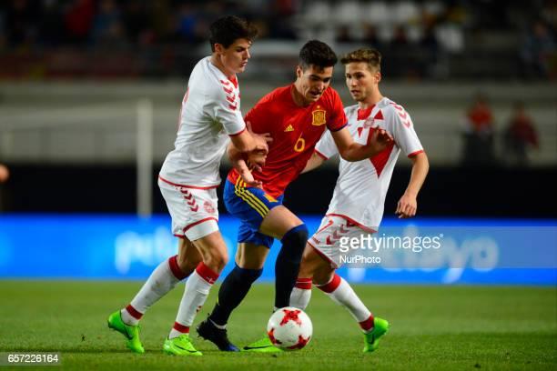 Norgaard Mikel Merino during the friendly match of national teams U21 of Spain vs Denmark in stadium Nueva Condomina Murcia SPAIN March 23rd 2017