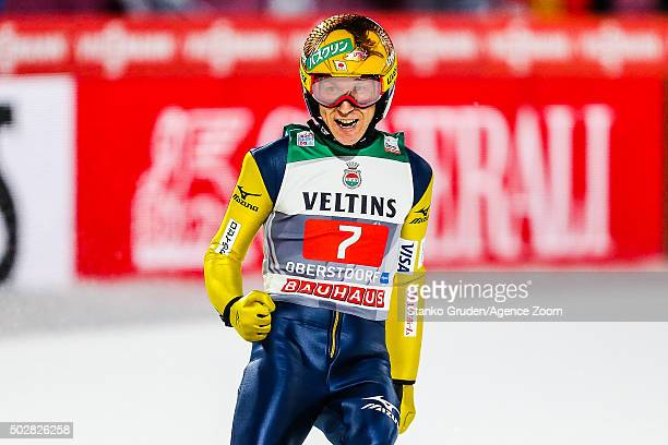 Noriaki Kasai of Japan competes during the FIS Nordic World Cup Four Hills Tournament on December 29 2015 in Oberstdorf Germany