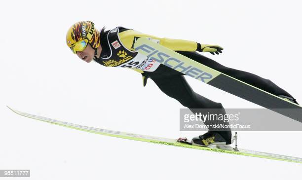 Noriaki Kasai of Japan competes during the FIS Ski Jumping World Cup event of the 58th Four Hills Ski Jumping Tournament on December 31 2009 in...