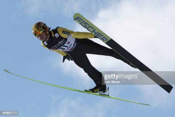 Noriaki Kasai of Japan in action during day three of the FIS Ski Jumping World Cup at the Muehlenkopfschanze on February 8 2009 in Willingen Germany