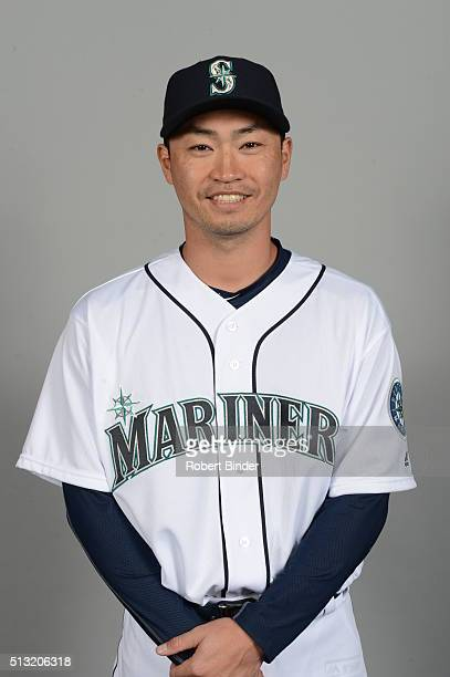 Norichika Aoki of the Seattle Mariners poses during Photo Day on Saturday February 27 2016 at Peoria Sports Complex in Peoria Arizona