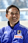 Norio Sasaki coach of Japan during the Women's Algarve Cup match between Japan and Portugal on March 6 2015 in Faro Portugal