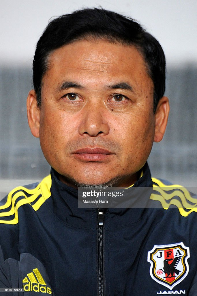 <a gi-track='captionPersonalityLinkClicked' href=/galleries/search?phrase=Norio+Sasaki+-+Soccer+Coach&family=editorial&specificpeople=5488586 ng-click='$event.stopPropagation()'>Norio Sasaki</a>, coach of Japan looks on prior to the Women's international friendly match between Japan and Nigeria at Fukuda Denshi Arena on September 26, 2013 in Chiba, Japan.