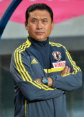 Norio Sasaki Head Coach of Japan during the international friendly match between Japan and New Zealand at Best Amenity Stadium on June 20 2013 in...