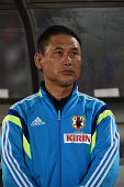 Norio Sasaki Head Coach of Japan during the women's international friendly match between Japan and Ghana at ND Soft Stadium on September 13 2014 in...