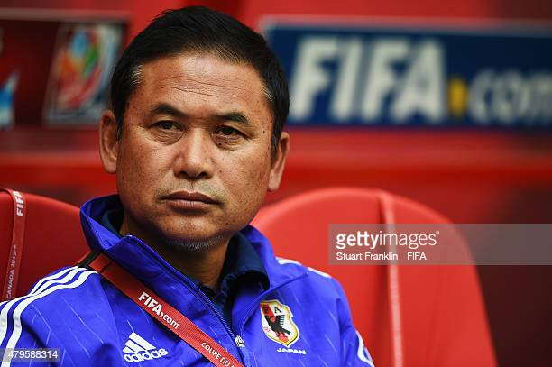 Norio Sasaki head coach of Japan looks on during the FIFA Women's World Cup Final between USA and Japan at BC Place Stadium on July 5 2015 in...