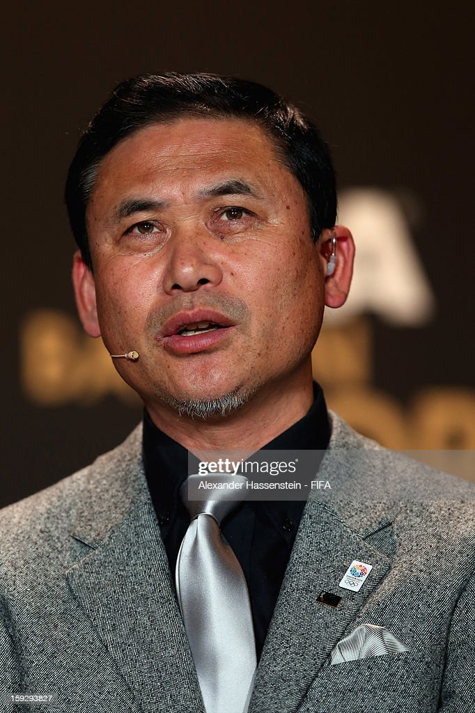 Norio Sasaki of Japan during the FIFA Ballon d'Or Gala 2012 at the Kongresshaus on January 7, 2013 in Zurich, Switzerland.