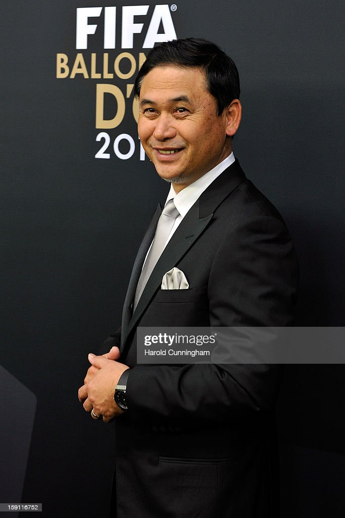 Norio Sasaki poses during the red carpet arrivals of the FIFA Ballon d'Or Gala 2013 at Congress House on January 7, 2013 in Zurich, Switzerland.