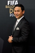 Norio Sasaki poses during the red carpet arrivals of the FIFA Ballon d'Or Gala 2013 at Congress House on January 7 2013 in Zurich Switzerland