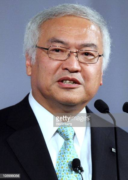 Norio Sasaki president and chief executive officer of Toshiba Corp speaks at the 12th Nikkei Global Management Forum in Tokyo Japan on Monday Oct 25...