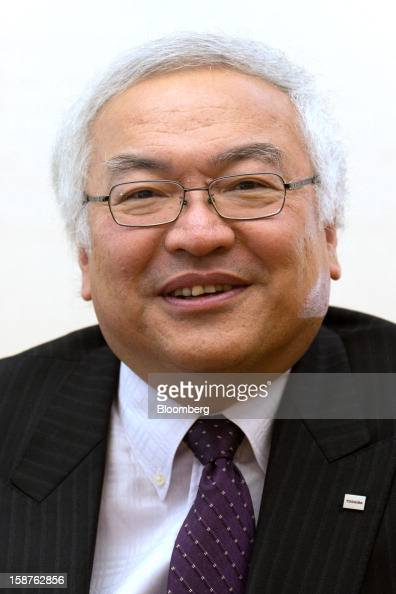 Norio Sasaki president and chief executive officer of Toshiba Corp poses for a photograph after an interview in Tokyo Japan on Friday Dec 28 2012...
