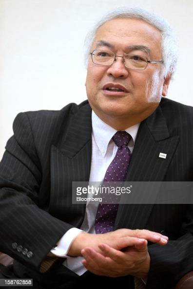 Norio Sasaki president and chief executive officer of Toshiba Corp speaks during an interview in Tokyo Japan on Friday Dec 28 2012 Toshiba Corp the...