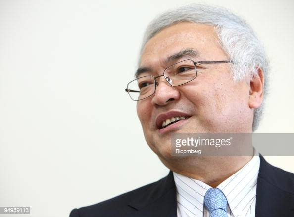 Norio Sasaki president of Toshiba Corp speaks during a group interview in Tokyo Japan on Friday June 19 2009 Sasaki pledged to revive earnings growth...