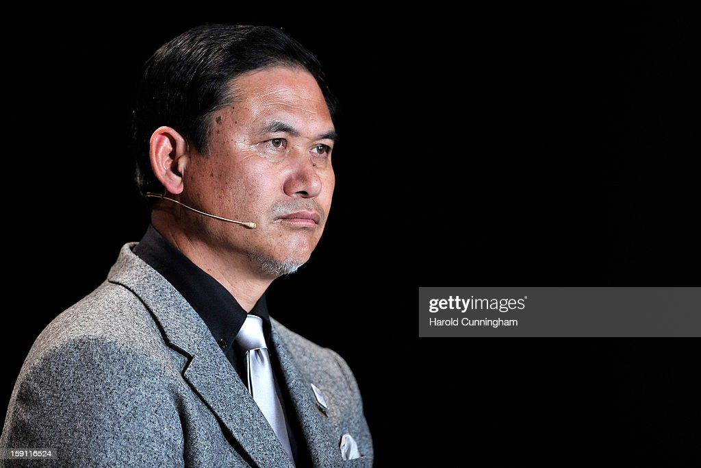 Norio Sasaki, Women's Coach of Japan attends the press conference with nominees for Women's World Player of the Year and World Coach of the Year for Women's Football prior to the FIFA Ballon d'Or Gala 2013 at Congress House on January 7, 2013 in Zurich, Switzerland.