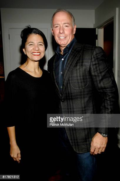 Norjka Irvino and Joe Irvino attend OLDMAN'S BRAVE NEW WORLD OF WINE Book Launch Hosted by W W Norton and Mark Oldman at Residence of Mark Oldman on...