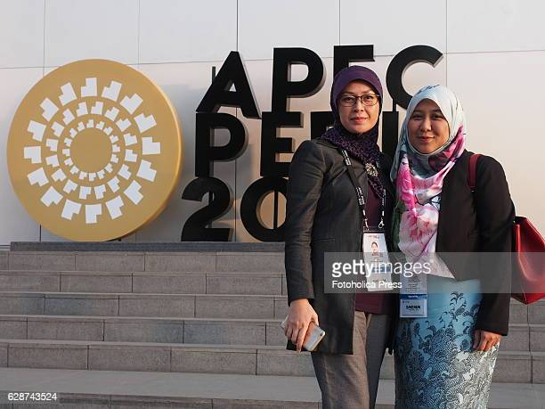 Norlela Suhailee and Norsarizah Sarbini members of Brunei delegation attending to Small and Micro Enterprises meeting of APEC 2016