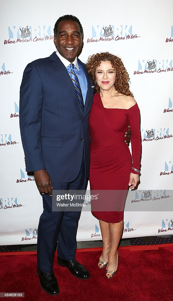 Norm Lewis and Bernadette Peters attend the 22nd annual Oscar Hammerstein Award gala at The Hudson Theatre on December 9, 2013 in New York City.