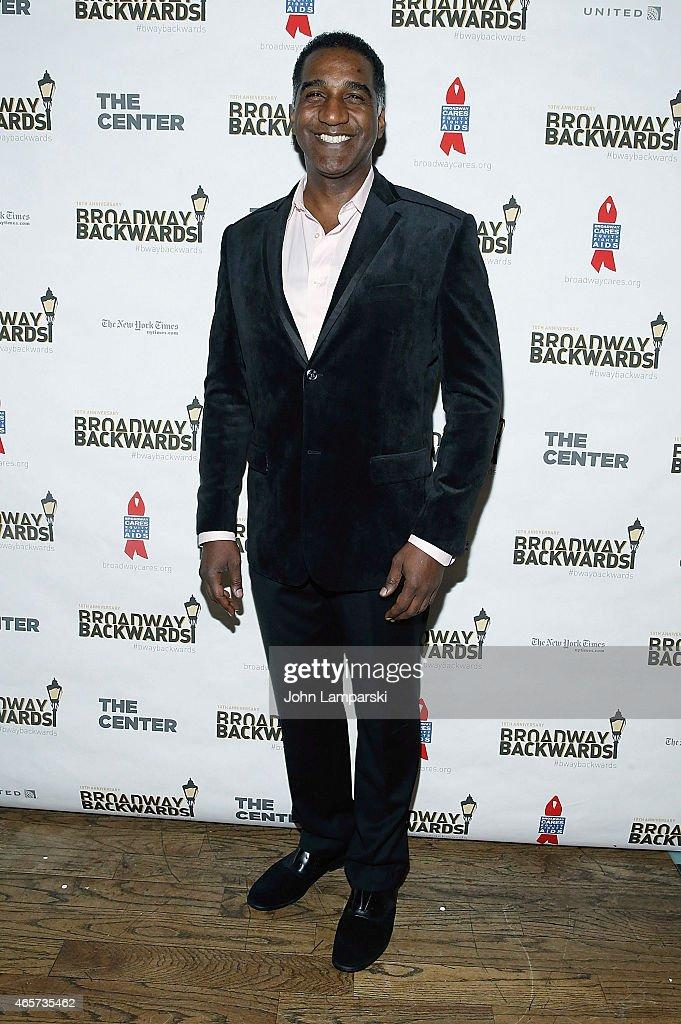 Norm Lewis attends 10th Anniversary of Broadway Backwards at John's on March 9, 2015 in New York City.