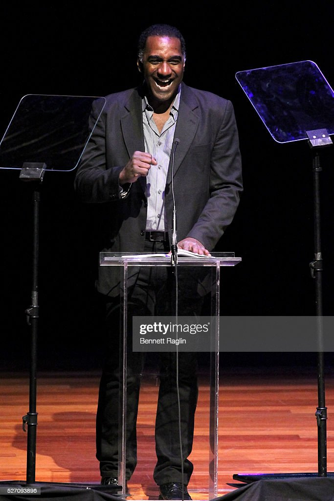 <a gi-track='captionPersonalityLinkClicked' href=/galleries/search?phrase=Norm+Lewis&family=editorial&specificpeople=2275893 ng-click='$event.stopPropagation()'>Norm Lewis</a> speaks on stage at the 31st Annual Lucille Lortel Awards at NYU Skirball Center on May 1, 2016 in New York City.