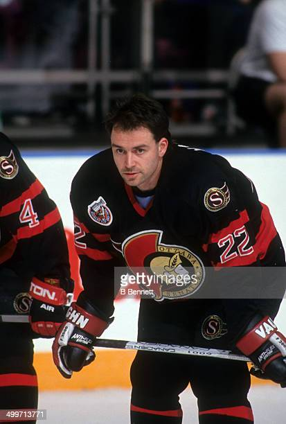 Norm Maciver of the Ottawa Senators skates on the ice before an NHL game against the New York Rangers on January 6 1993 at the Madison Square Garden...