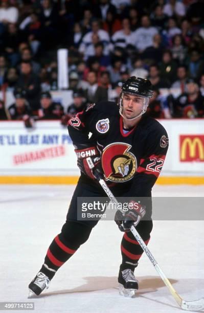 Norm Maciver of the Ottawa Senators skates on the ice during a preseason game in September 1992