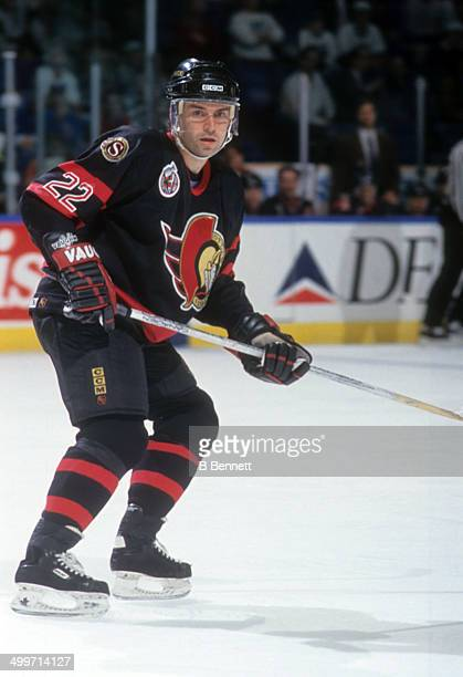 Norm Maciver of the Ottawa Senators skates on the ice during an NHL game against the New York Islanders on December 17 1992 at the Nassau Coliseum in...