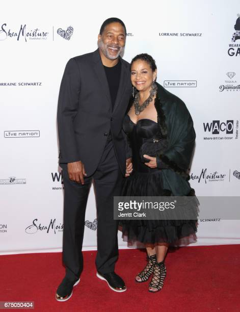 Norm Nixon and Debbie Allen attend the Wearable Art Gala Arrivals at California African American Museum on April 29 2017 in Los Angeles California