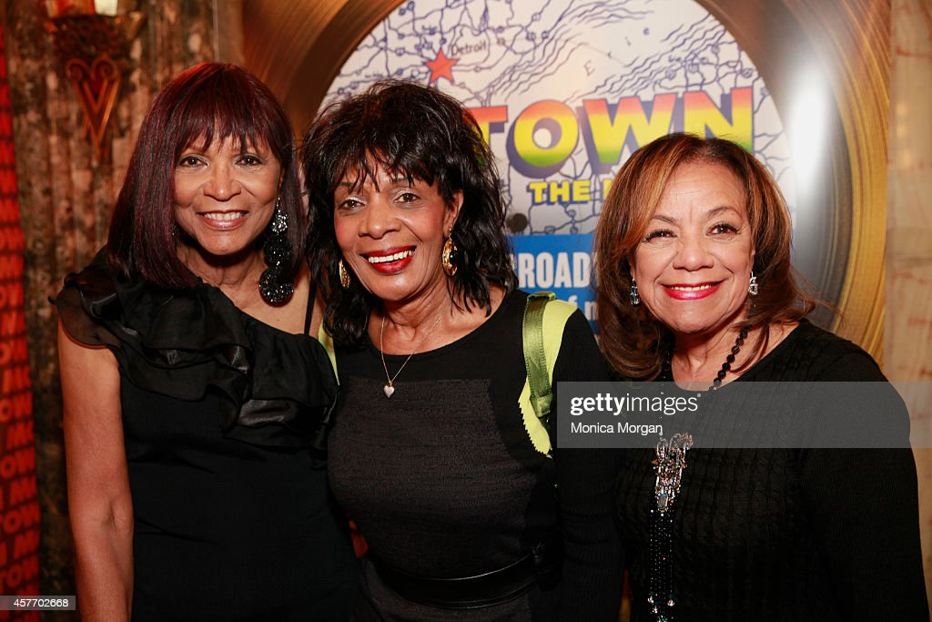 Norma BarbeeFairhurst Mildred Gill Arbor and Bertha BarbeeMcNeal attends the opening night of 'Motown The Musical' at The Fisher Theatre on October...