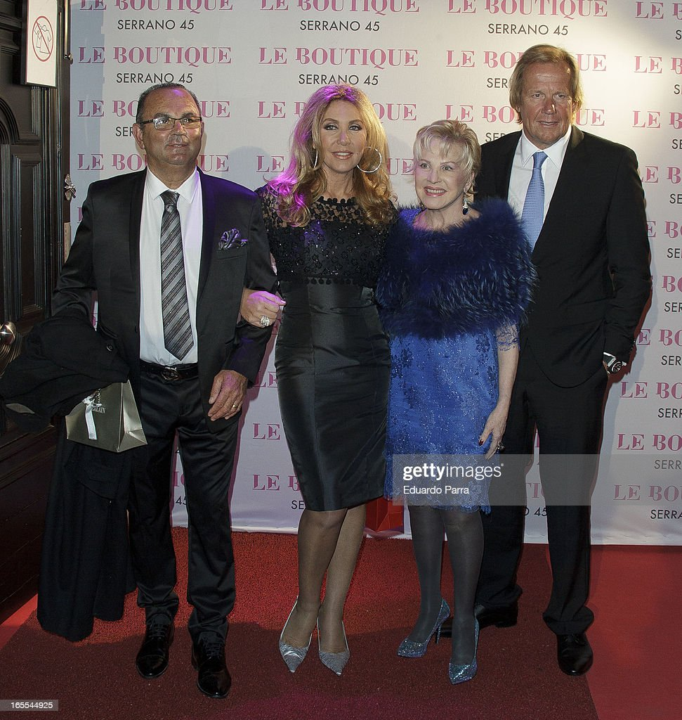 Norma Duval and friends attend the photocall for the birthday party of Norma Duval at Le Boutique on April 4, 2013 in Madrid, Spain.