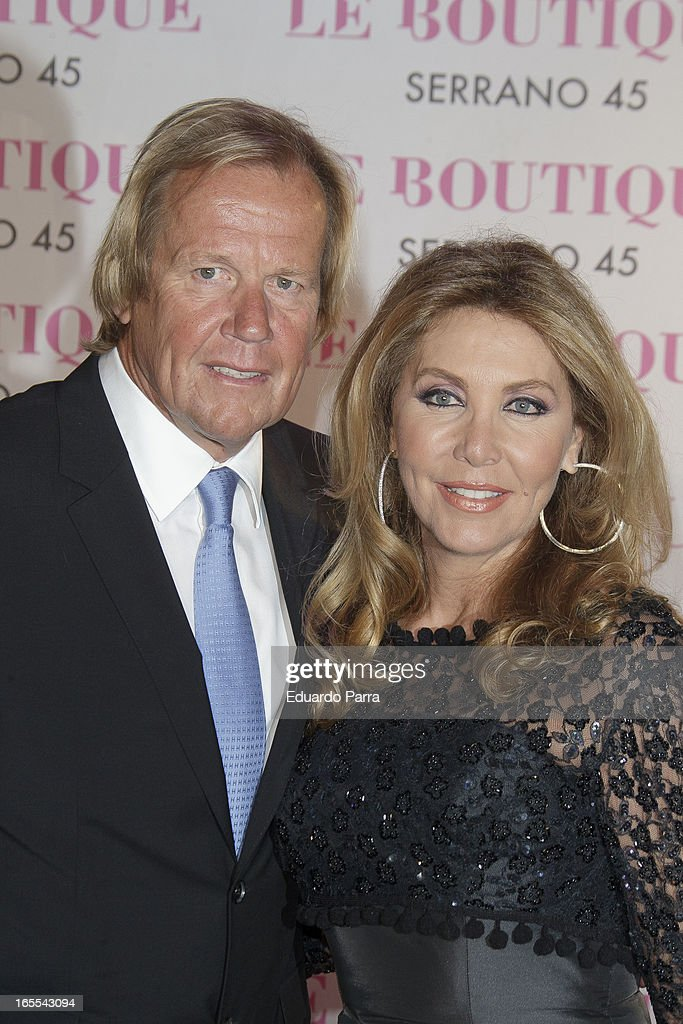 Norma Duval and her boyfriend Matthias Kühn attends the photocall for the birthday party of Norma Duval at Le Boutique disco on April 4 2013 in...