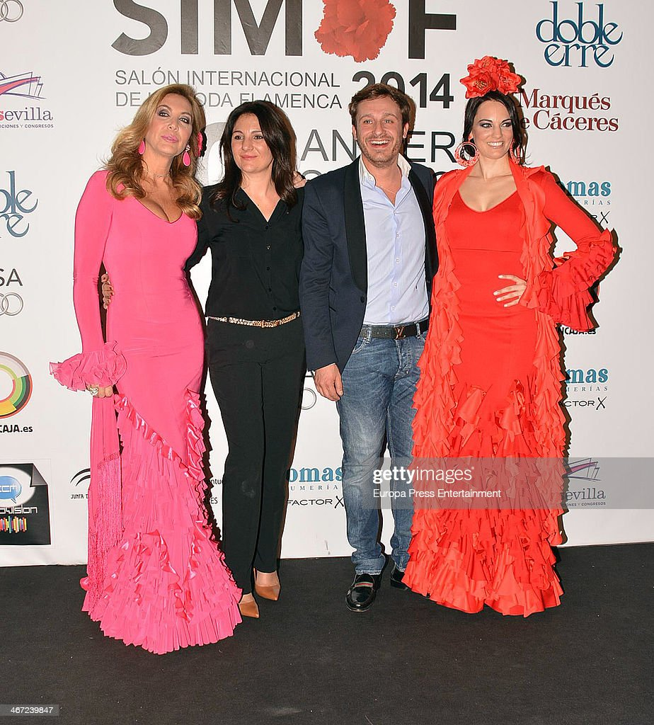 Norma Duval and Juan Pena during the second day of the International Flamenco Fashion Show 'SIMOF' on January 31 2014 in Seville Spain