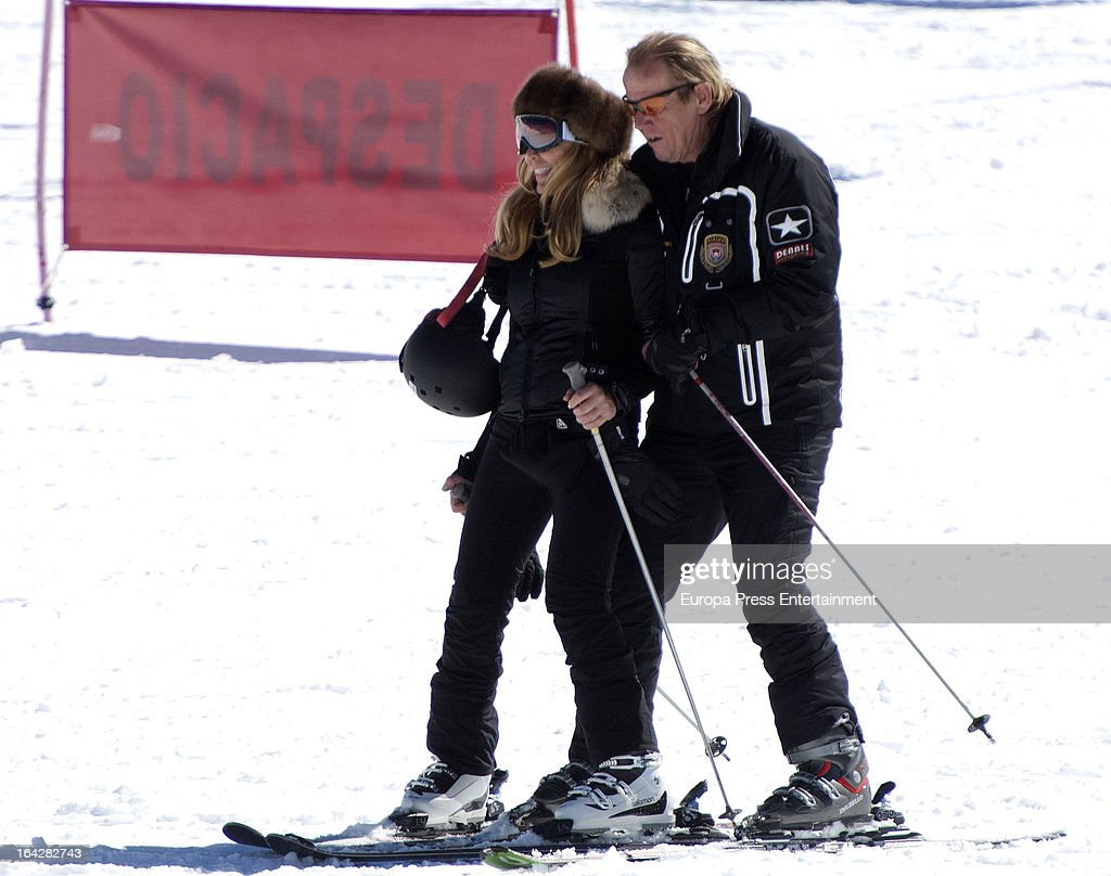 Norma Duval and Matias Khun are seen on March 18 2013 in Granada Spain