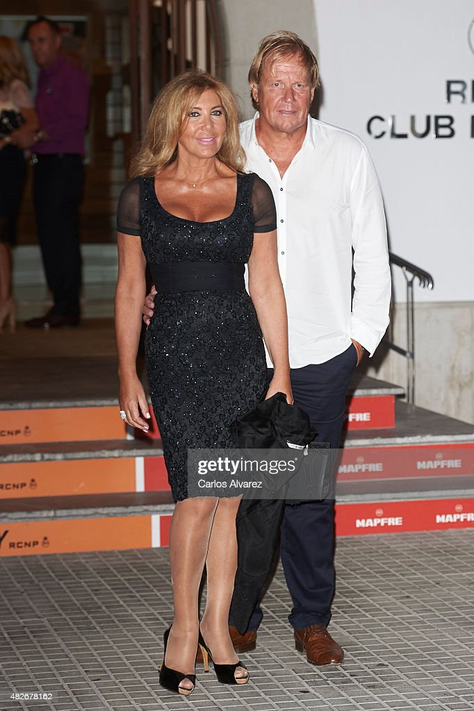 Norma Duval and Matthias Kuhn attend a Charity Gala against skin cancer at the Royal Nautical Club on August 1 2015 in Palma de Mallorca Spain